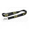 Čierne VIP šnúrky na krk